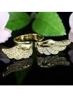 Кольцо Крылья Ангела с кристаллами