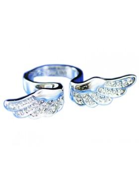 Кольцо Ангельские крылья со Сваровски