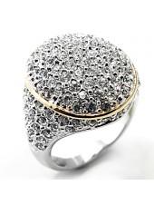 Кольцо с Россыпью кристаллов Swarovski