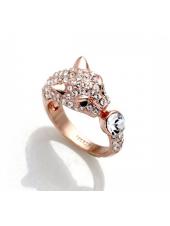 Кольцо Гепард с кристаллами Swarovski