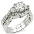 Двойное кольцо с Фианитами