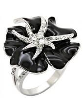 Кольцо Черная Орхидея