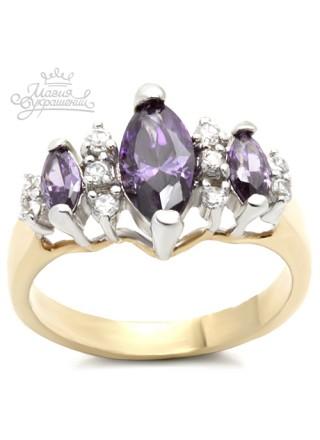 Кольцо Виолетта с фианитами