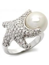Кольцо Подарок морей с жемчугом