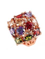 Кольцо разноцветное Магические камни