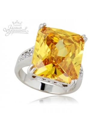 Кольцо Солнечный фианит