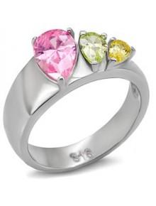 Кольцо Сеньорита с цветными фианитами