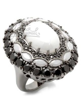 Кольцо Снежная Королева с фианитами