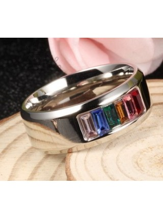 Кольцо Разноцветные фианиты