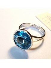 Кольцо с голубым Swarovski