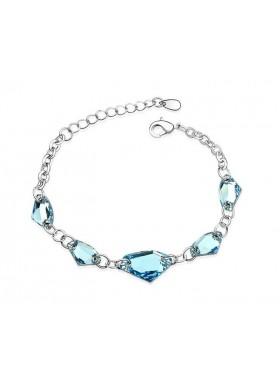 Браслет с крупными голубыми кристаллами Swarovski