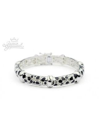 Браслет Леопард с кристаллами Сваровски