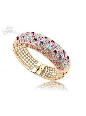 Браслет с Разноцветными кристаллами Swarovski
