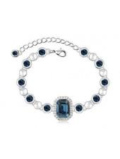 Браслет Идиллия с синими кристаллами Сваровски