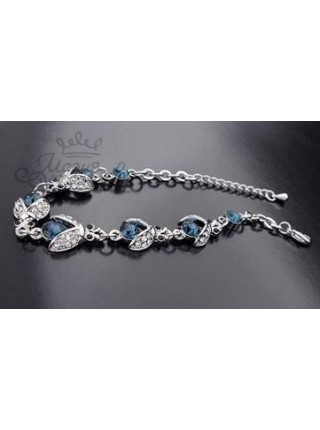 Браслет Божьи коровки с синими кристаллами