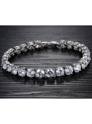 Браслет Изящность прозрачных кристаллов