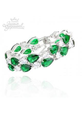 Браслет Магический с зелеными камнями