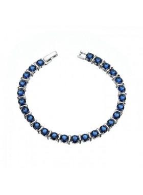 Браслет с синими кристаллами