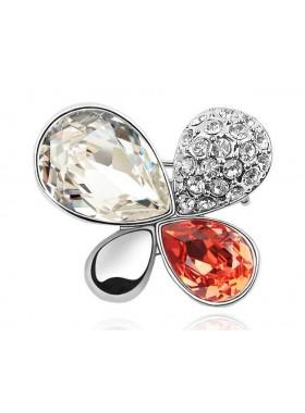 Брошь Изящная с кристаллами Swarovski