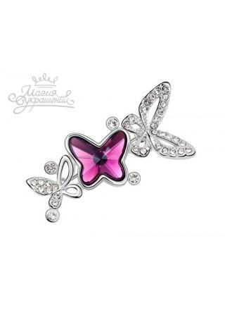 "Брошь ""Танцующие бабочки"""