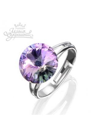 Кольцо разъемное с кристаллом Swarovski Vitral Light