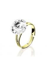 Кольцо с кристаллом Swarovski разъемное