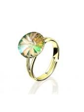 Кольцо с кристаллом Swarovski Swarovski Luminous Green разъемное
