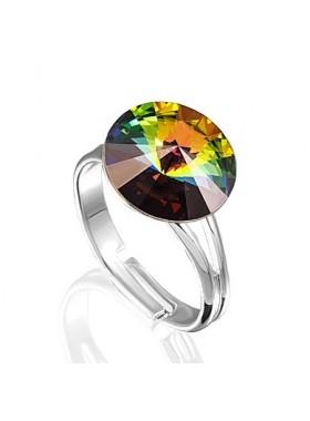 Кольцо с кристаллом Swarovski Vitrail Medium