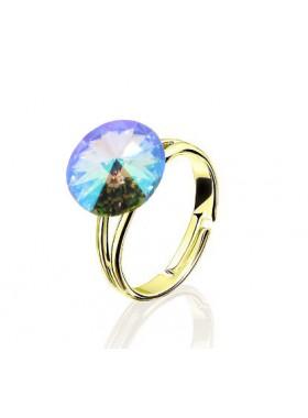 Кольцо с разноцветным кристаллом Swarovski Paradise Shine