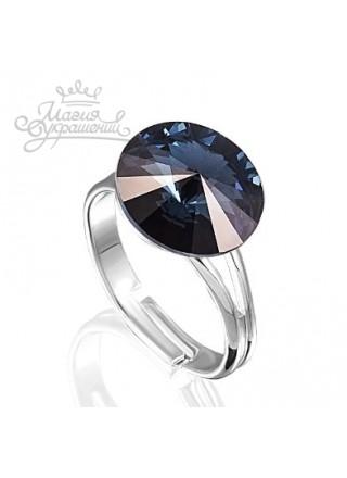 Кольцо с синим кристаллом Swarovski