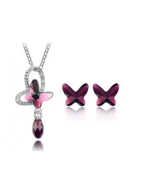 "Комплект ""Бабочки"" с кристаллами Swarovski"