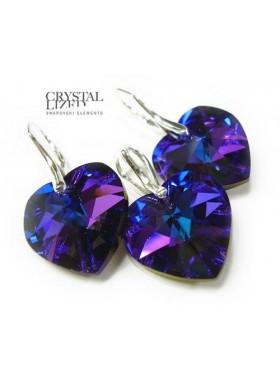Комплект с Кристаллами Swarovski Гелиотроп Сердце