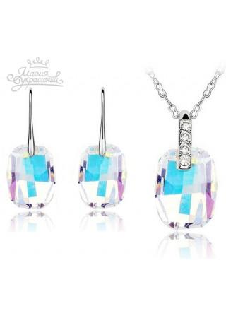 Комплект с крупными кристаллами Aurore Boreale