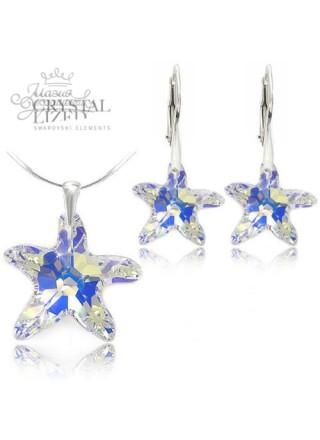 Комплект Звездный с кристаллами Aurore Boreale