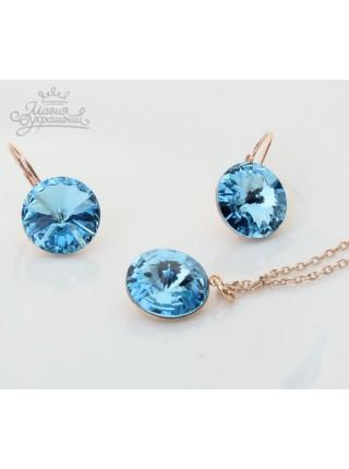 """Комплект """"Блеск голубых кристаллов"""""""