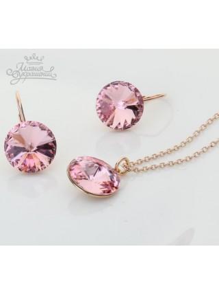 """Комплект """"Блеск розовых кристаллов"""""""
