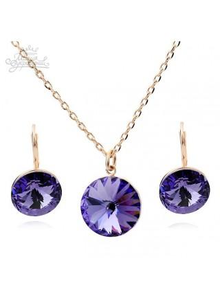 """Комплект """"Блеск фиолетовых кристаллов"""""""