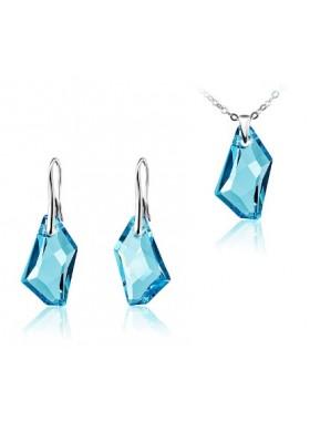 Комплект Голубой кристалл Swarovski