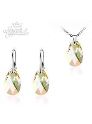 Комплект с кристаллами Swarovski Luminous Green