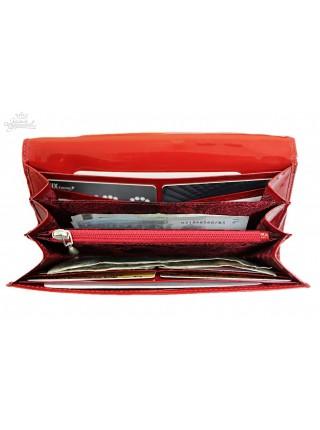 "Кошелек ""Knicksen"" кожаный со Swarovski (Escala Red)"