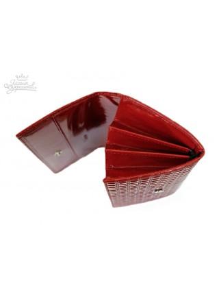 """Кошелек большой """"Knicksen"""" из красной кожи со Swarovski коллекция Red Ice"""