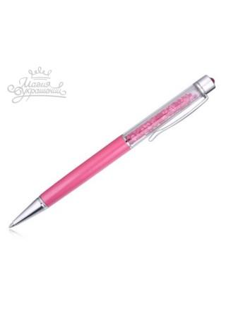 Ручка шариковая с розовыми кристаллами Swarovski