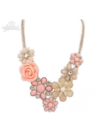 Колье Летнее розовое