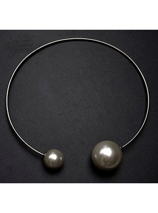 """Ожерелье с белым жемчугом """"Ди"""""""