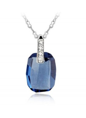 Подвеска с синим кристаллом Swarovski Montana