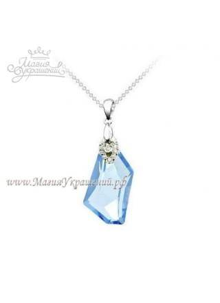 Подвеска Блеск с кристаллом Aquamarine