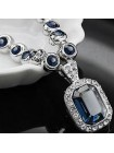 Ожерелье с синими кристаллами Montana Swarovski