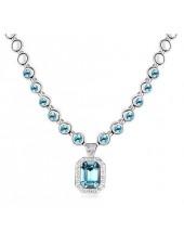 Ожерелье с кристаллами Blue Swarovski