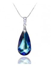 Подвеска Драгоценная с кристаллом Swarovski Meridian Blue