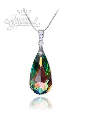Подвеска Драгоценная с кристаллом Swarovski многоцветная